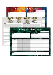 Goal and Habit Tracker
